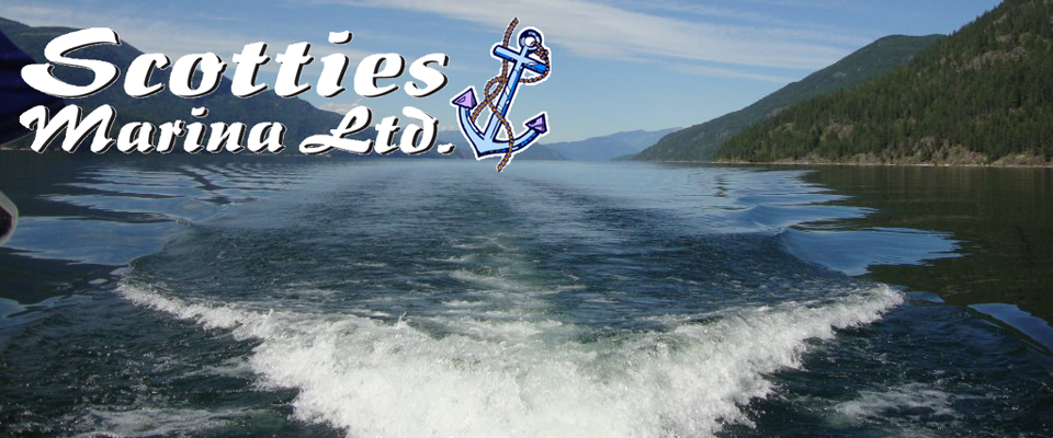 View of Lower Arrow Lake at Scotties Marina