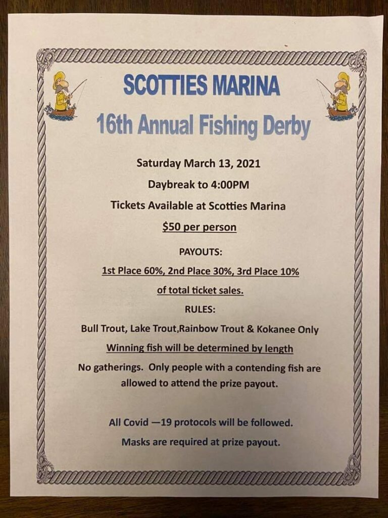 16th annual fishing derby poster